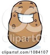 Smiling Potato Character