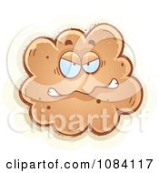 Clipart Angry Fart Character Royalty Free Vector Illustration