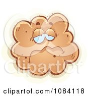 Clipart Sad Fart Character Royalty Free Vector Illustration