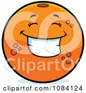 Clipart Happy Navel Orange Character Royalty Free Vector Illustration