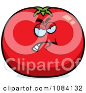 Clipart Angry Tomato Character Royalty Free Vector Illustration