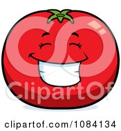 Happy Tomato Character