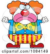 Clipart Angry Chubby Circus Clown Royalty Free Vector Illustration by Cory Thoman