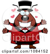 Clipart Loving Flea Circus Master Royalty Free Vector Illustration by Cory Thoman