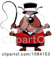 Clipart Mad Chubby Flea Circus Master Royalty Free Vector Illustration by Cory Thoman