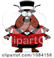 Clipart Chubby Flea Circus Master Royalty Free Vector Illustration by Cory Thoman