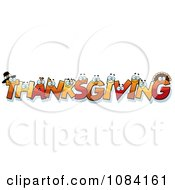Clipart Thanksgiving Letter Characters Royalty Free Vector Illustration