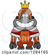 King Orangutan Wearing A Crown And Robe