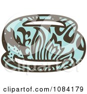 Clipart Brown And Turquoise Vintage Number 8 Royalty Free Vector Illustration