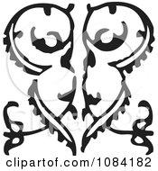 Clipart Black And White Vintage Design Element 1 Royalty Free Vector Illustration