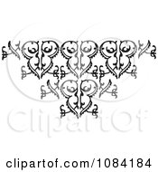 Clipart Black And White Vintage Design Element 11 Royalty Free Vector Illustration