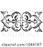 Clipart Black And White Vintage Design Element 4 Royalty Free Vector Illustration