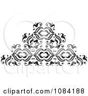 Clipart Black And White Vintage Design Element 5 Royalty Free Vector Illustration