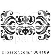 Clipart Black And White Vintage Design Element 6 Royalty Free Vector Illustration