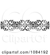 Clipart Black And White Vintage Design Element 9 Royalty Free Vector Illustration