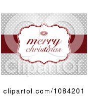 Clipart Merry Christmas Greeting Over Silver Snowflakes Royalty Free Vector Illustration