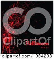 Clipart Blood Splatter You Are Invited To A Halloween Party Background Royalty Free Vector Illustration by BestVector
