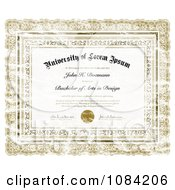 Clipart Distressed Diploma Royalty Free Vector Illustration