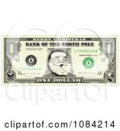Clipart Santa Dollar Bill Royalty Free Vector Illustration