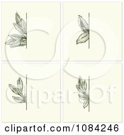 Clipart Green Leaves Invitation Backgrounds Royalty Free Vector Illustration