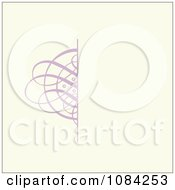 Clipart Purple Swirl Invitation Background On Cream Royalty Free Vector Illustration by BestVector