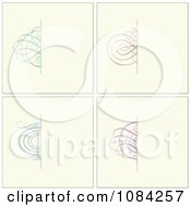 Clipart Colorful Swirl Invitation Backgrounds On Cream Royalty Free Vector Illustration