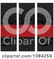 Clipart Black And Red Swirl Vertical Invitations Royalty Free Vector Illustration by BestVector