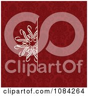 Clipart White Snowflake Invitation Background On A Red Pattern 3 Royalty Free Vector Illustration by BestVector