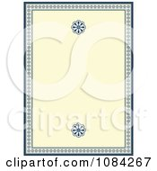 Cream And Blue Daisy Invitation Background