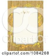 Orange Flowers And Wood Invitation Background
