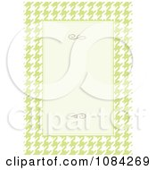 Clipart Green And Cream Houndstooth Invitation Background Royalty Free Vector Illustration