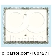 Clipart Blank Victorian Frame Over Blue Royalty Free Vector Illustration