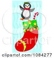Christmas Penguin On A Stocking