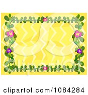 Yellow Background With A Floral Vine