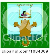 Clipart Cat Watching A Toucan Through A Window Royalty Free Vector Illustration