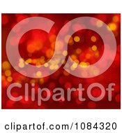 Clipart Red Christmas Sparkles And Bokeh Lights Background Royalty Free Illustration