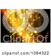 Clipart Golden Christmas Lights And Bokeh Lights Background Royalty Free Illustration