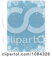 Clipart Blue Snow Background With Snowflake Borders Royalty Free Vector Illustration