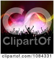 Clipart Silhouetted Crowd Under Music Notes Royalty Free Vector Illustration by KJ Pargeter