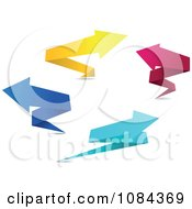 Clipart Colorful Origami Paper Arrows 1 Royalty Free Vector Illustration