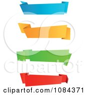 Clipart Colorful Origami Paper Banners 1 Royalty Free Vector Illustration