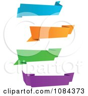 Clipart Colorful Origami Paper Banners 2 Royalty Free Vector Illustration