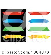 Clipart Colorful Origami Paper Banners 3 Royalty Free Vector Illustration
