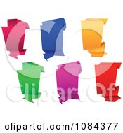 Clipart Colorful Origami Paper Banners 4 Royalty Free Vector Illustration