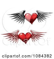 Winged Red Hearts 1
