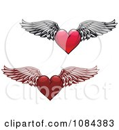 Winged Red Hearts 2