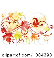 Clipart Autumn Leaf Swirl Royalty Free Vector Illustration