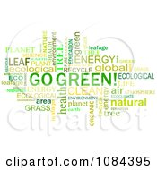Clipart Go Green Word Collage Royalty Free Vector Illustration