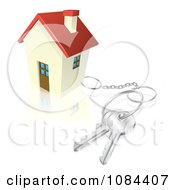 Clipart 3d House With Keys Attached Royalty Free Vector Illustration