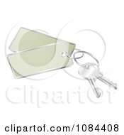Clipart 3d Keys With Tags Royalty Free Vector Illustration